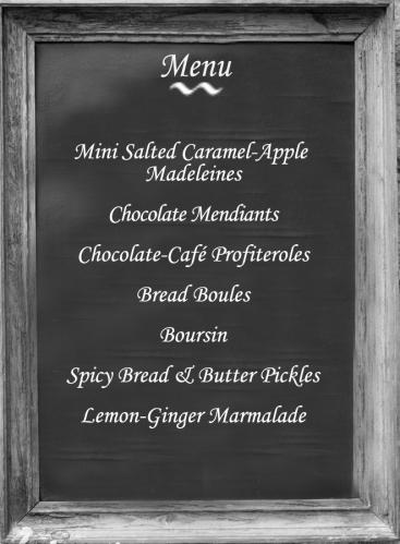 holiday baking menu